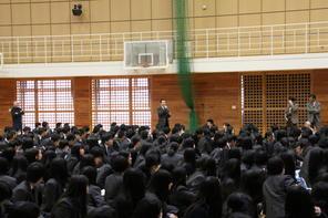 次年度、前期生徒会役員選挙立会演説会開催!