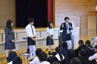 2015中学生一日入学の様子